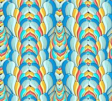 abstract multicolored pattern by Tanor