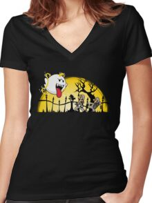 Ghostbusters Bros Women's Fitted V-Neck T-Shirt