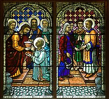 St Stephen Receiving His Orders by Jeffrey Hamilton