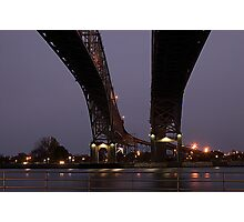 Blue Water Bridges Photographic Print