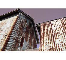 Corrugated iron buildings : photograph Photographic Print
