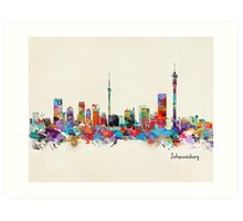 Johannesburg South Africa Skyline Art Print