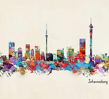 Johannesburg South Africa Skyline by bri-b