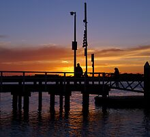 Sunset at Werribee South by rflower
