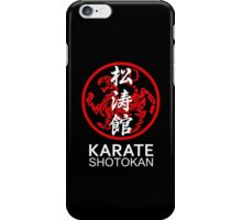 Shotokan Karate Symbol and Kanji White Text iPhone Case/Skin
