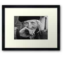 Portraits : BEST Marie beloved at Natural ... version 6 N & B  collector  1977 6  (c)(t) by Olao-Olavia / Okaio Créations Framed Print