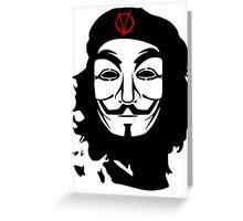 Che Guevara Anonymous Greeting Card