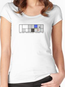 Eames House Architecture T-shirt Women's Fitted Scoop T-Shirt