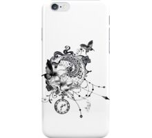 Lace Steampunk Dreamcatcher with Clock Butterflies and Flowers iPhone Case/Skin