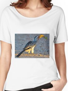 Yellow-Billed Hornbill with Lunch (Tockus leucomelas) Women's Relaxed Fit T-Shirt