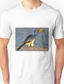 Yellow-Billed Hornbill with Lunch (Tockus leucomelas) T-Shirt