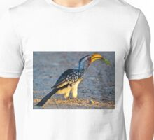 Yellow-Billed Hornbill with Lunch (Tockus leucomelas) Unisex T-Shirt