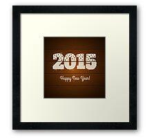 New year symbol Framed Print