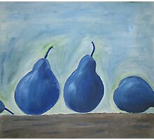 Blue Pears Photographic Print