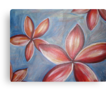Floating frangipanis Canvas Print