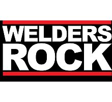 Cool 'Welders Rock' Hoodie, T-Shirts and Gifts With Red Stripes Photographic Print