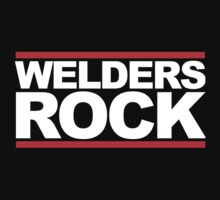 Cool 'Welders Rock' Hoodie, T-Shirts and Gifts With Red Stripes by Albany Retro