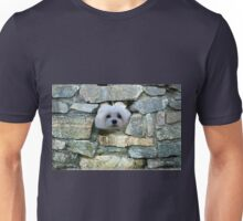 Snowdrop the Maltese - Peek-a-Boo - I Can See You ! Unisex T-Shirt