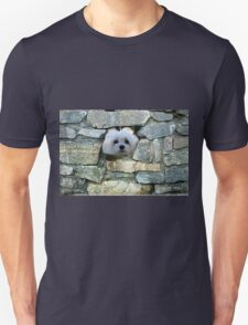 Snowdrop the Maltese - Peek-a-Boo - I Can See You ! T-Shirt