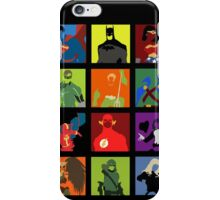 DC Comics Justice Leage Silhouettes iPhone Case/Skin
