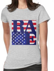 Rage Against the Machine- Renegades Flag Womens Fitted T-Shirt