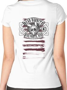 Dead Rabbits Vintage Biker Design Women's Fitted Scoop T-Shirt