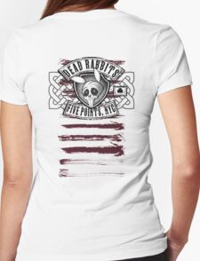 Dead Rabbits Vintage Biker Design Womens Fitted T-Shirt