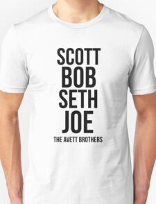 The Avett Brothers - Names Unisex T-Shirt