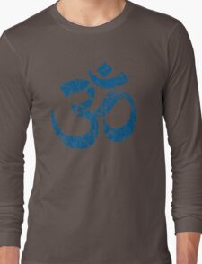 OM Yoga Spiritual Symbol in Distressed Style Long Sleeve T-Shirt