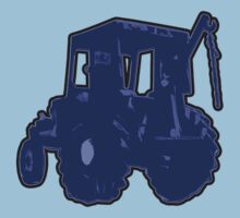 TRACTOR BLUE no text by nayamina