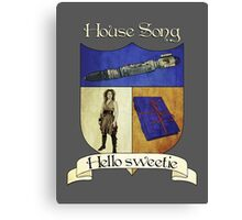 House Song Crest Canvas Print