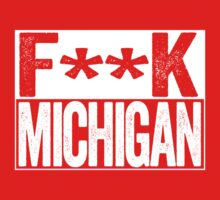 F**K MICHIGAN - Ohio State Buckeyes Fan Shirt - Ohio State University - Haters Gonna Hate - White on Red by BeefShirts