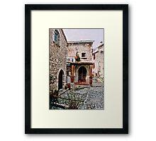 Italian Court Yard Framed Print