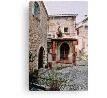 Italian Court Yard Canvas Print