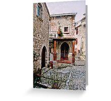 Italian Court Yard Greeting Card