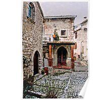 Italian Court Yard Poster