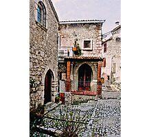 Italian Court Yard Photographic Print