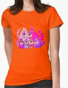 Purrrrfect in pink Womens Fitted T-Shirt