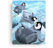 Penguin Slide Canvas Print
