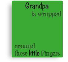 John Deere Green For Grandpa Handprint Gift Canvas Print