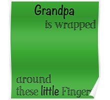 John Deere Green For Grandpa Handprint Gift Poster