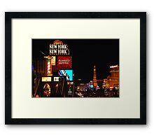 Nightime strip Framed Print