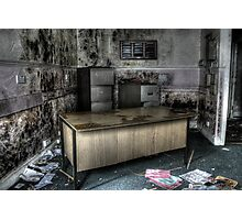 Rotten Office Photographic Print