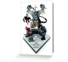 Spidy vs. Venom Greeting Card