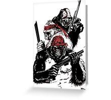 Guerrilla Gorillas White Greeting Card