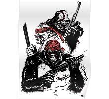 Guerrilla Gorillas White Poster