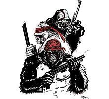 Guerrilla Gorillas White Photographic Print