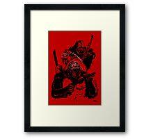 Guerrilla Gorillas Red Framed Print