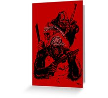Guerrilla Gorillas Red Greeting Card