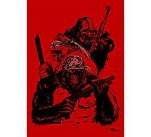 Guerrilla Gorillas Red Photographic Print